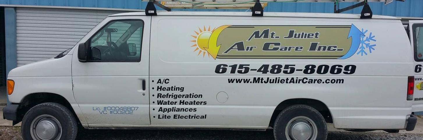 <h2 style='color:#FFFFFF !important;                                              '>Rely on Us!</h2>                                             <span class='slideDesc'>Let Mt. Juliet Air Care Inc. help with your HVAC needs. </span>                                                                                           <div class='responsiveSliderButton'><a style='text-decoration: none;'                                              href='/about-us'>Learn about our experience HVAC Technicians</a></div>